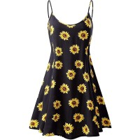 Women's Sleeveless Adjustable Strappy Summer Beach Swing Dress