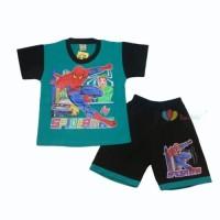 Setelan Pendek SuperHero Uk 5-6 tahun / Lengan Pendek Celana Pendek