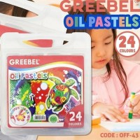 GREEBEL OIL PASTELS/CRAYON - 24 WARNA