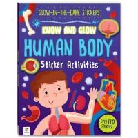 Buku Sticker Glow in the Dark Human Body buku aktivitas anak stiker