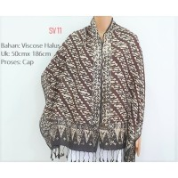 Selendang Batik Pashmina Batik Motif Etnik Tradisional V7S