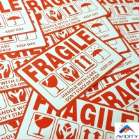 Sticker / Stiker Fragile #3 | Handle with Care | Please