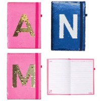 Smiggle Notebook A5 Alpha Sequin