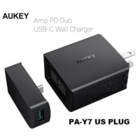 AUKEY AMP POWER DELIVERY DUO USB TYPE C WALL CHARGER PA-Y7