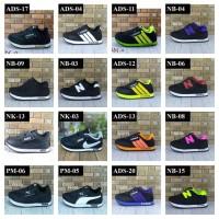 Sepatu Anak Sneakers Anak Warna Hitam MH-03 Premium Quality