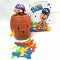 mainan jumping pirate roulette pirate barrel bajak laut loncat lompat