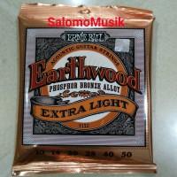 senar gitar akustik ernie ball earthwood phosphor extra light