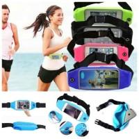 Tas pinggang jogging waterproof case hp anti air