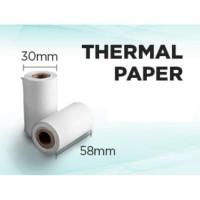 Kertas Printer Thermal Kertas Struk kasir 58x30mm isi 10 Roll