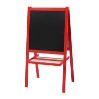 MALA Papan Tulis anak blackboard whiteboard 2 in 1 merah ikea