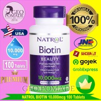 Natrol Biotin 10.000 mcg, 100 Tablets (rambut & kuku)