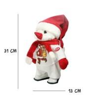 Boneka Besar Snowman Bergerak Berbunyi Suara Bagus