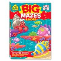 BIG MAZES Workbook (Age 6-8) activity book buku edukasi anak math IQ