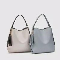 Tas Wanita Termurah/Tas kekinian ZARA Hand Bag - Blue & Cream