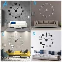 Jam dinding besar raksasa jumbo custom DIY giant wall clock 70 -130 cm