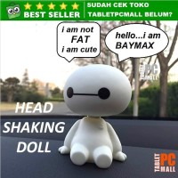 Boneka Per Emoji Baymax Karakter Spring Shaking Head Doll Car Ornament
