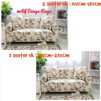 Set Cover Sofa 2Seater dan 3Seater Plus 1 sarung bantal bahan Elastis