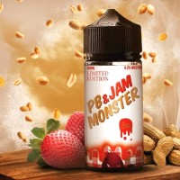 Liquid Jam Monster PB & Strawberry 100ml Vape USA