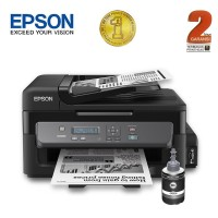 Epson Printer Monochrome Hitam Multifungsi M200 Print Scan Copy