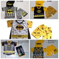 Baju Anak Lakilaki Superhero Setelan Tidur Sayap Batman Superman