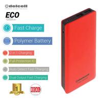 Powerbank DELCELL eco power bank slim 10000 mAh real capacity + SENTER