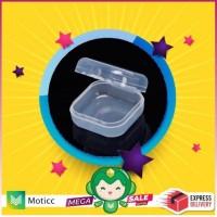 Eartips Sparepart Earphone Foam Kotak Antingan Plastik Case Bag Kecil