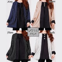 Baju Blouse Layeri Big Size Baju Atasan Wanita Jumbo