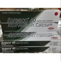 Obat Kolesterol - Avesco-40 Atorvastatin-40 Mg Strip ORIGINAL 10 Tab