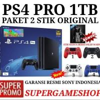 PS4 PRO 1TB CUH 7006B Garansi Resmi Sony - 2 Stik Original