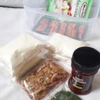 Bahan Takoyaki Lengkap: Tepung, Katsuobushi, Aonori, Saus di Surabaya