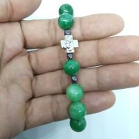 Gelang rosario batu giok hijau 10mm