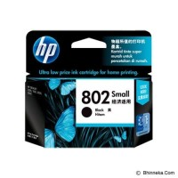 Tinta Cartridge Hp 802 Black Small Original