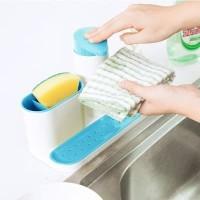 [A246] Set Dispenser Sabun Cair + Tempat Spons Sikat Cuci Piring