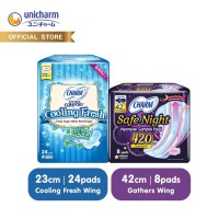 Charm Cooling Fresh Wing 23cm 24 pads & Charm Safe Night 42 cm 8 pads