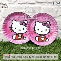Piring Kertas / Piring Kue Hello Kitty (harga per-pax)