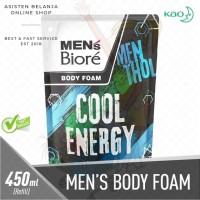 Men's BIORE Cool Energy Body Foam 450 ml Biore Men Sabun Badan Pria