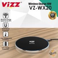 CHARGER WIRELESS VIZZ VZWX20 10W FAST CHARGING 3.1A POWER IQ GARANSI