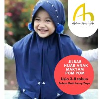 Abdullah Hijab / Jilbab Anak Maryam pom pom