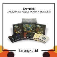 SARUNG SAPPHIRE JACQUARD POLOS WARNA SONGKET (JST)