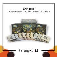 SARUNG SAPPHIRE JACQUARD LILIN MUDA KEMBANG 2 WARNA (JLMK 2W)