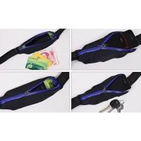 Waist Bag Sport Waterproof Sabuk Tas Pinggang Olahraga Anti air 2 Slot