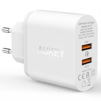 Aukey Charger Dual Port USB Quick Charge 2.0 Fast Charging PA-T7