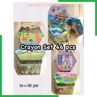 SStore DAVIS Crayon Box Set 46 Pcs