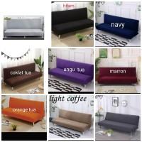 sarung sofa bed polos cover sofa bed polos