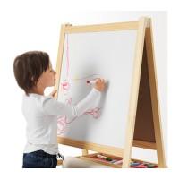 Papan Tulis Lukis Kayu 2 in 1 IKEA MALA Black White Board Warna Warni