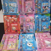 Paket Alat tulis set/stationery set/souvenir ulang tahun anak dompet
