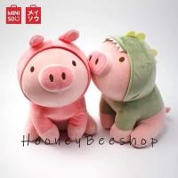 Original Miniso - Boneka Babi Pig Doll Round Plush Toy Piglet Miniso
