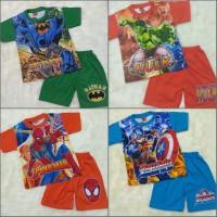 Baju Setelan Anak Laki Keren 2-7thn Motif Superhero
