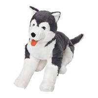Boneka anjing siberian husky IKEA LIVLIG 57cm