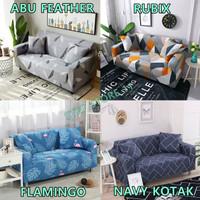 Cover Sofa Bed Import Elastis 1 2 3 Seater   Sarung Penutup SofaBed